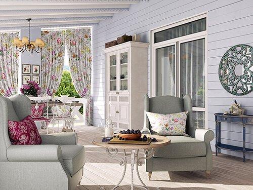 Дизайн террассы в загородном доме